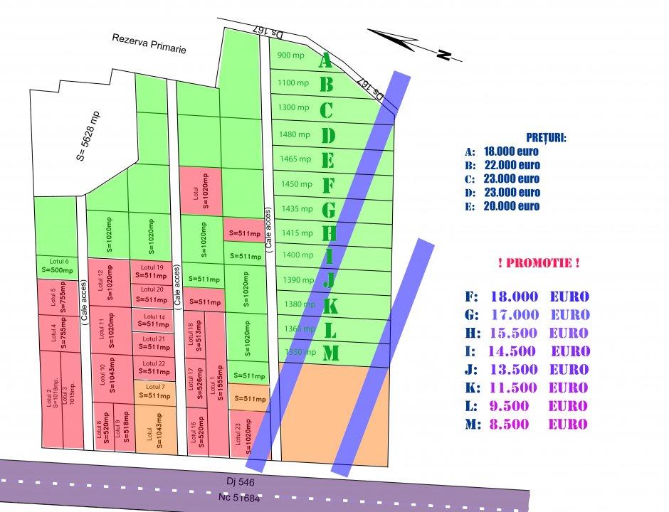 Parcele teren cu gradina | Cartier de case la 10 minute de Slatina