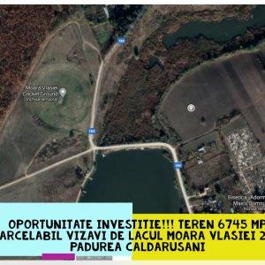 Teren Parcelabil cu iesire la Lacul Moara Vlasiei 2 si Padurea Caldarusani