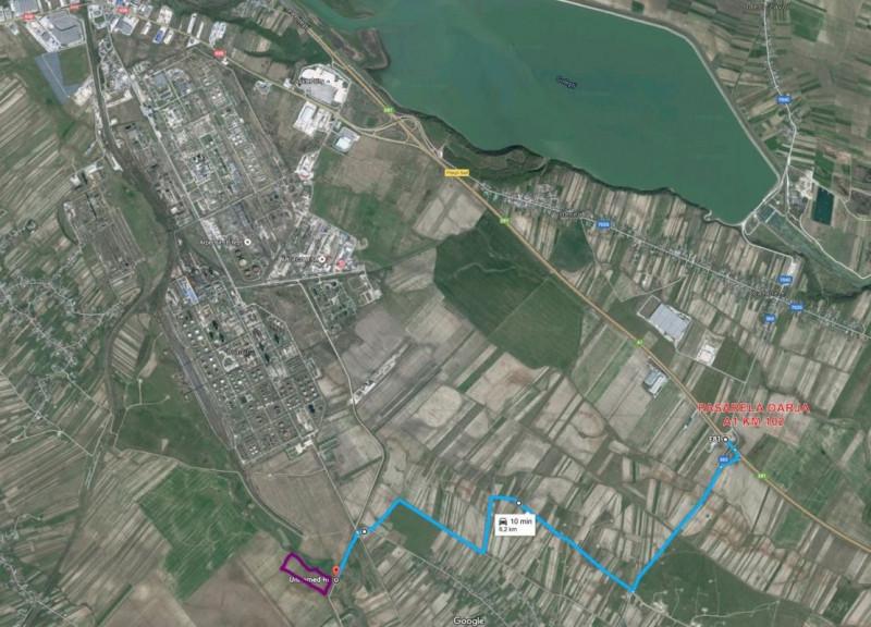Teren industrial Oarja | 71.000 mp | 13 Euro | Autostrada