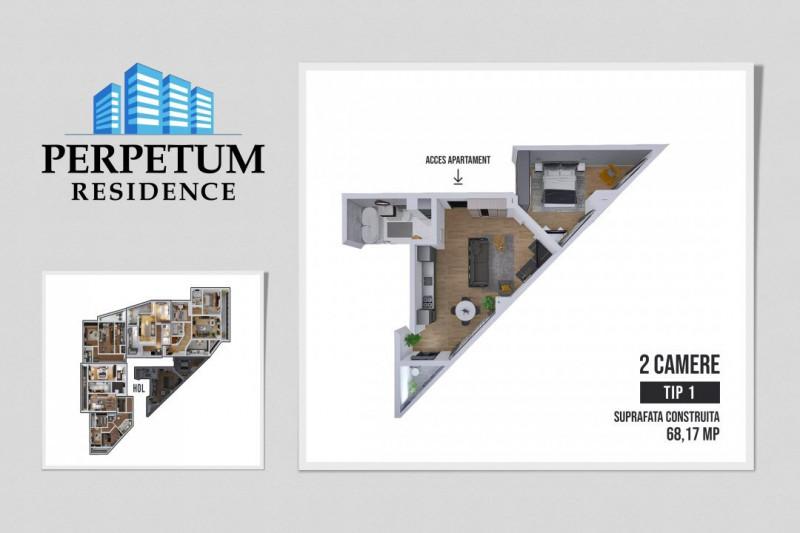 COMISION 0% ! SALA POLIVALENTA - PERPETUM RESIDENCE II - 2 camere TIP 1