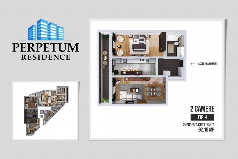 COMISION 0% ! SALA POLIVALENTA - PERPETUM RESIDENCE II  - 2 camere TIP 4